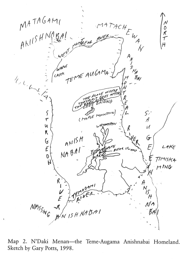 Map of Ndaki Menan