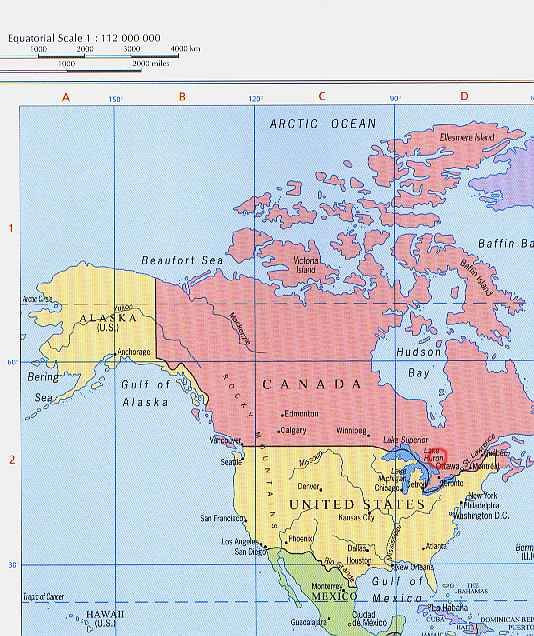 location of lake temagami on political map of north america